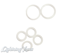 EVOD Coil Head Replacement Clear Silicone O-Rings 10 Pack (5 Large & 5 Small rings)