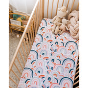 Snuggle Hunny Kids - Fitted Cot Sheet (Rainbow Baby)