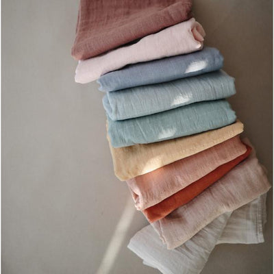 Mushie Organic Swaddle VARIOUS COLOURS
