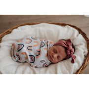 Snuggle Hunny Kids - Snuggle Swaddle and Beanie Set (Sunset Rainbow)