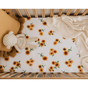 Snuggle Hunny Kids - Fitted Cot Sheet (Sunflower)