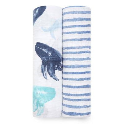 Seafaring Swaddles 2 Pack