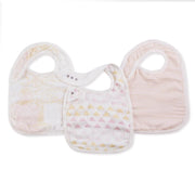 Silky Soft Snap Bibs Metallic Primrose Birch 3 Pack