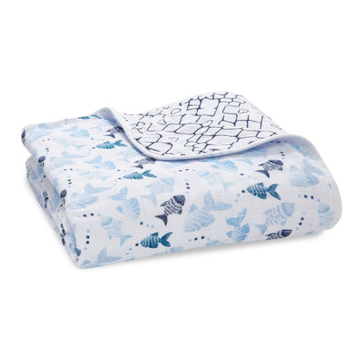 Gone Fishing Classic Muslin Dream Blanket