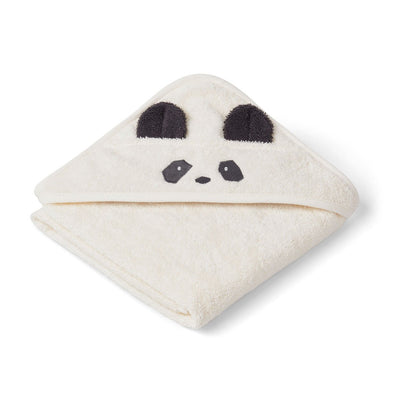 Augusta Toddler Hooded Towel (Panda Creme)