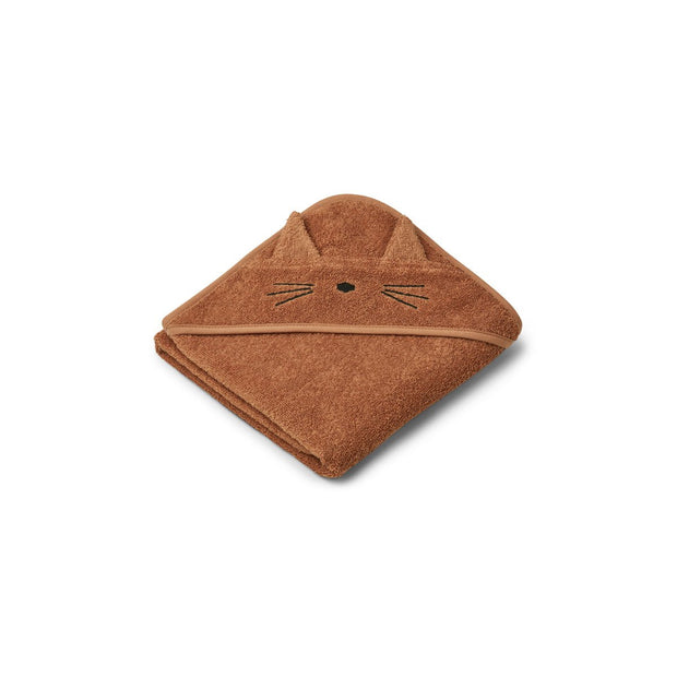 Liewood - Hooded Towel (Cat Terracotta)