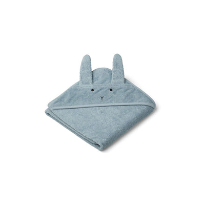 Liewood - Hooded Towel (Rabbit Sea Blue)