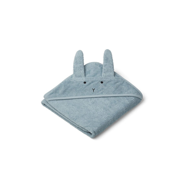 Augusta Toddler Hooded Towel (Rabbit Sea Blue)