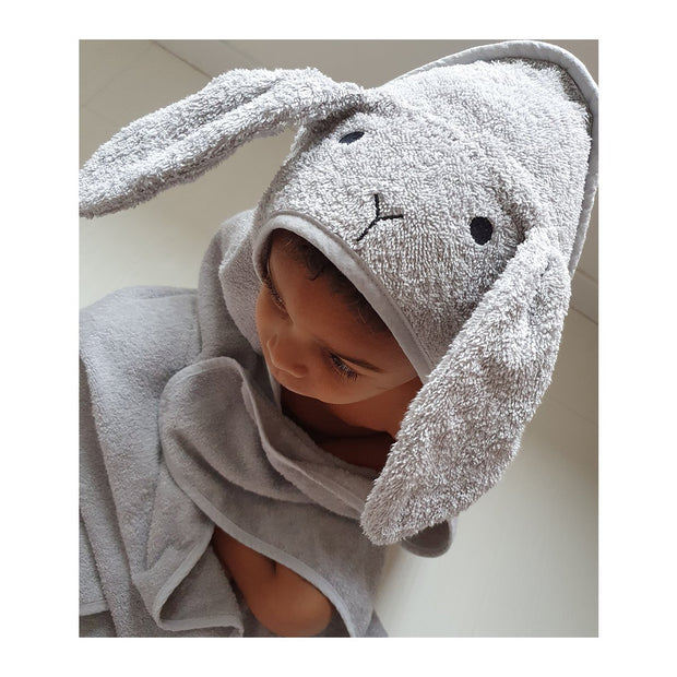 Liewood - Augusta Toddler Hooded Towel (Rabbit Dumbo Grey)
