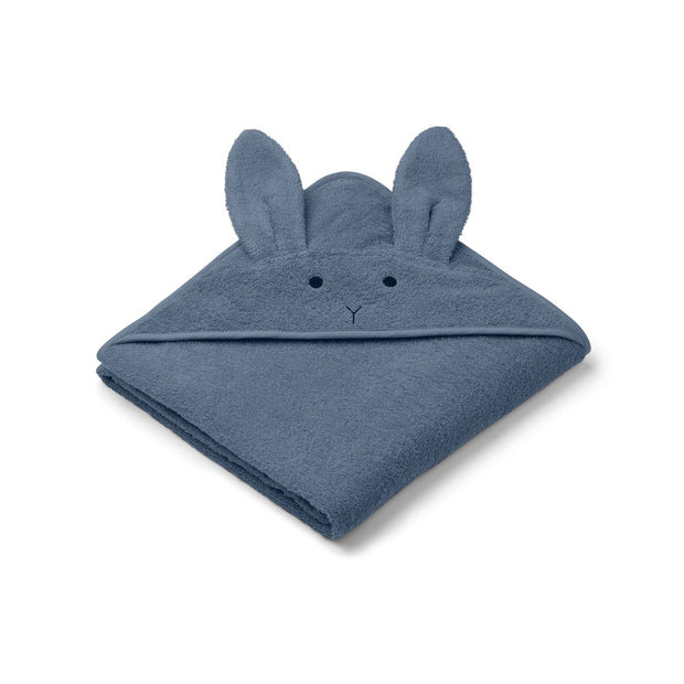 Liewood - Augusta Toddler Hooded Towel (Rabbit Blue Wave)