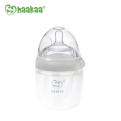 Haakaa - Generation 3 Silicone Baby Bottle (Grey)