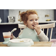 Baby Bjorn - Baby Plate, Spoon & Fork 2 pack (Powder Green)