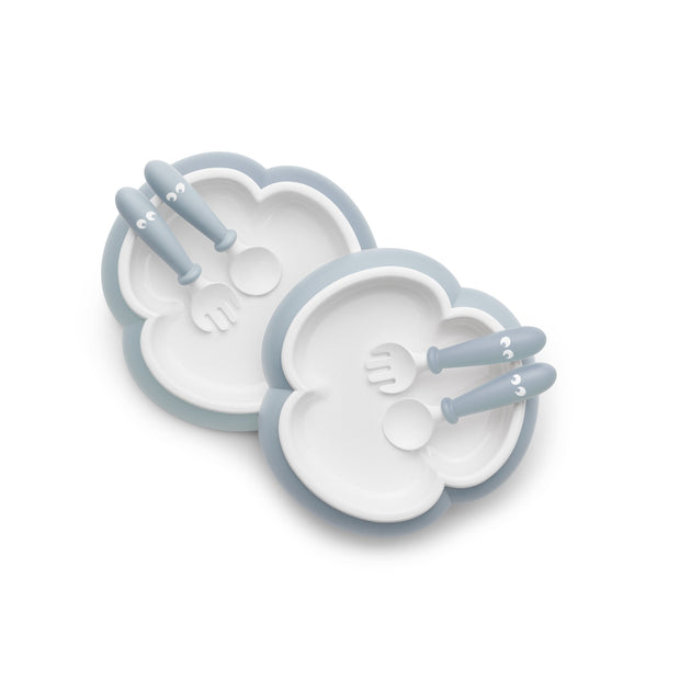 Baby Bjorn - Baby Plate, Spoon & Fork 2 pack (Powder Blue)