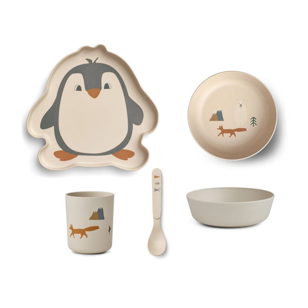 Liewood - Bamboo Tableware Set (Artic Mix)