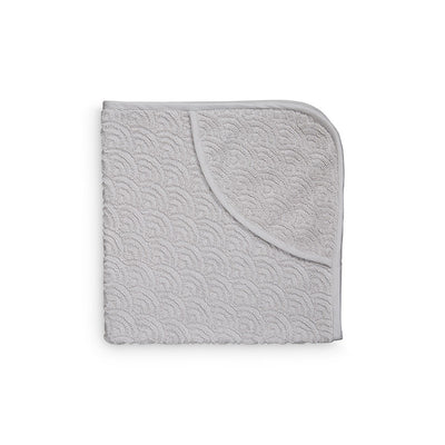 Hooded Baby Towel (Grey Wave)