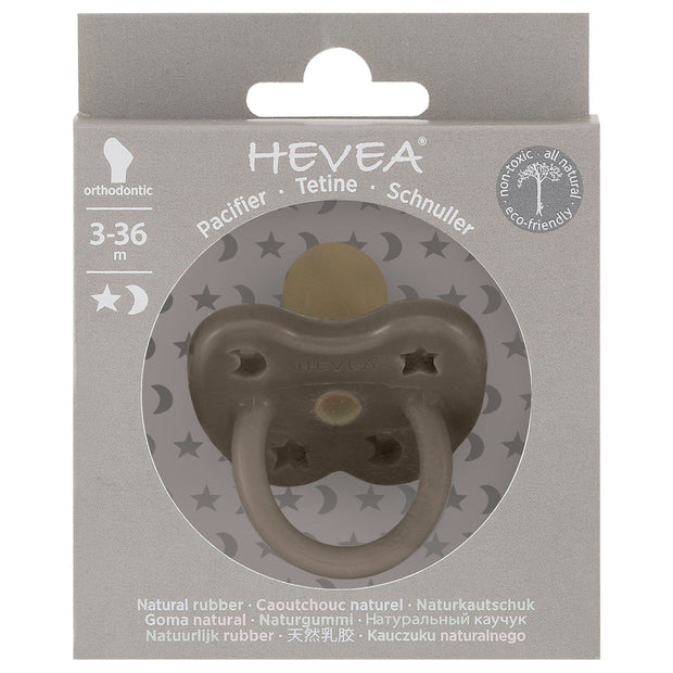 Hevea - Orthodontic Colour Pacifier 3 - 36 months (Shitake Grey)