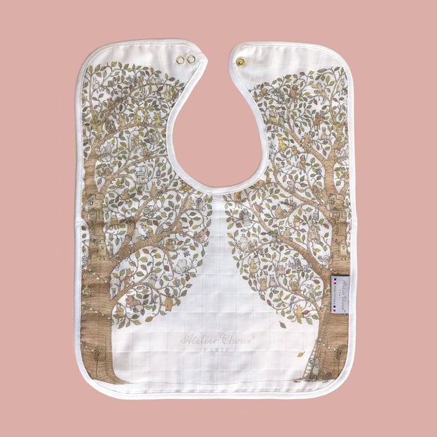 Atelier Choux - Large Bib (Friends and Family Tree)