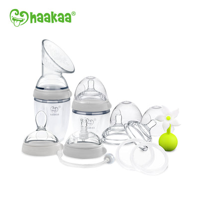 Haakaa - Gen 3 Essentials Pump & Bottle Pack (Grey)