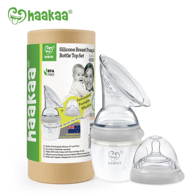Haakaa - Gen 3 Breast Pump & Bottle Set - 160ml