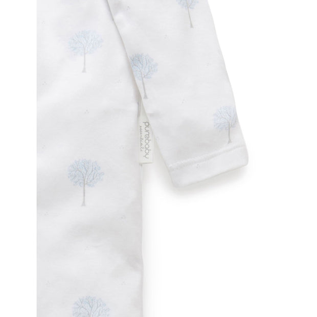 Zip Growsuit (Pale Blue Tree)