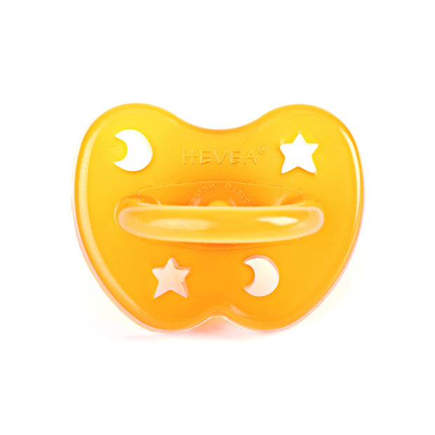 Hevea - Orthodontic Pacifier 0 - 3 months (Star and Moon)