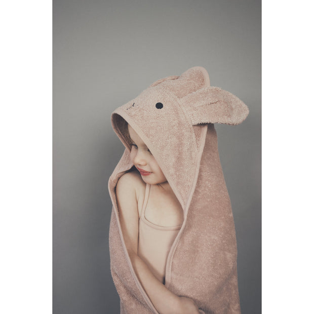 Augusta Toddler Hooded Towel (Cat Dark Rose)