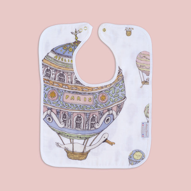 Atelier Choux - Large Bib (Hot Air Balloon)