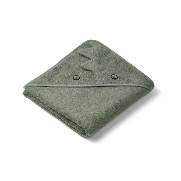 Augusta Toddler Hooded Towel (Dino Faune Green)