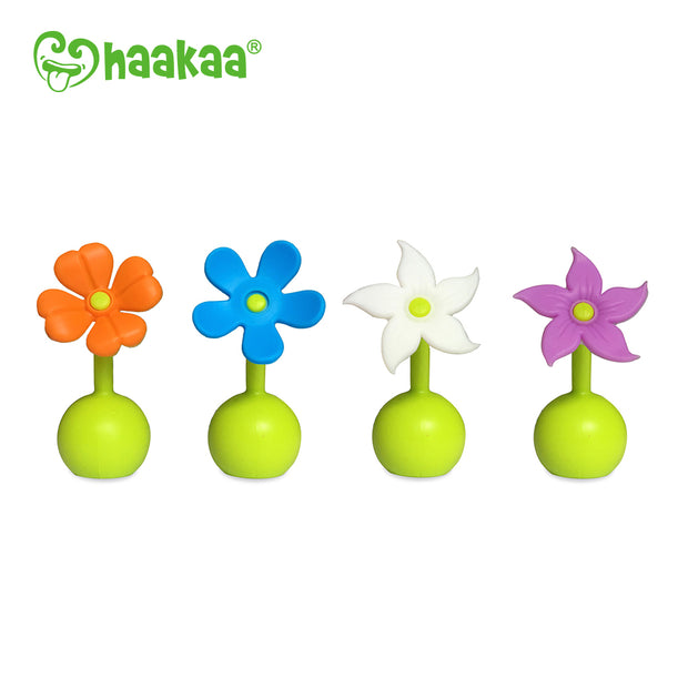 Haakaa - Silicone Breast Pump Flower (Blue)