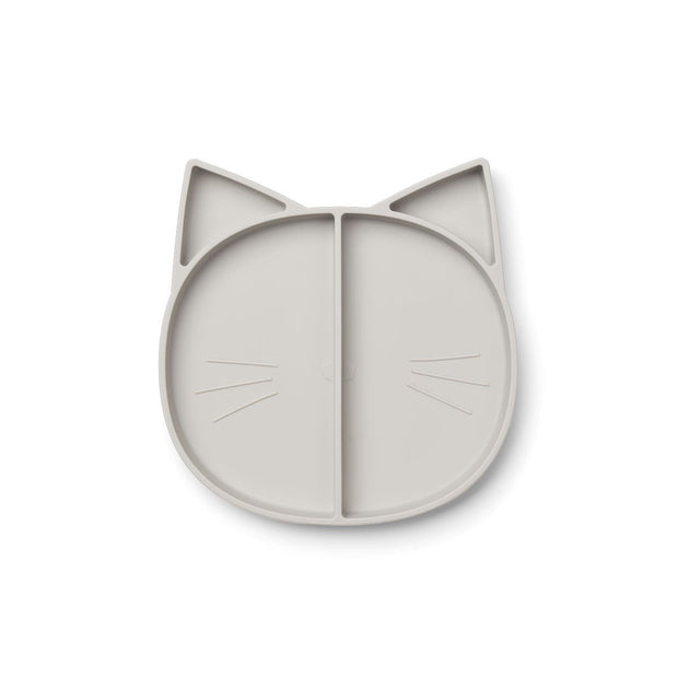 Liewood - Maddox Silicon Multi Plate (Cat Dumbo Grey)
