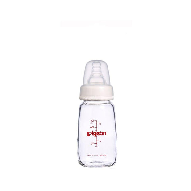 Pigeon - Peristaltic Slim Neck Bottle 120mL (GLASS)