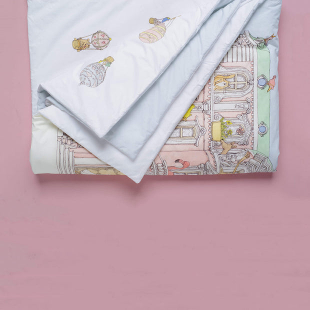 Atelier Choux - Reversible Quilt (Monceau Mansion/Hot Air Balloon)
