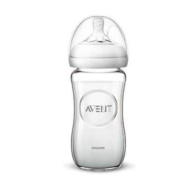 Natural Feeding Glass Bottle 240ML Single