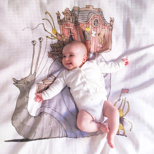 Snail Riding Swaddle