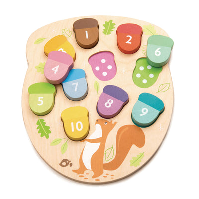 How Many Acorns Wooden Puzzle