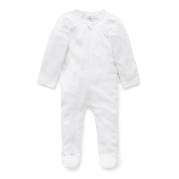 Zip Growsuit (White)