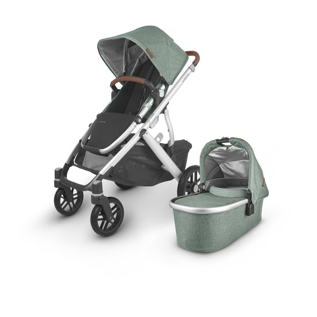 UPPAbaby - VISTA V2 with Bassinet (Green Melange Emmett) + $50 Metro Baby Voucher + FREE UPPER ADAPTERS + FREE PARENT ORGANISER