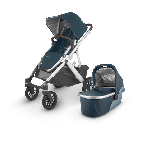 UPPAbaby - VISTA V2 with Bassinet (Deep Sea Finn) + $50 Metro Baby Voucher + FREE UPPER ADAPTERS + FREE PARENT ORGANISER