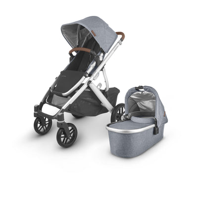 UPPAbaby - VISTA V2 with Bassinet (Blue Melange Gregory) + $50 Metro Baby Voucher + FREE UPPER ADAPTERS + FREE PARENT ORGANISER
