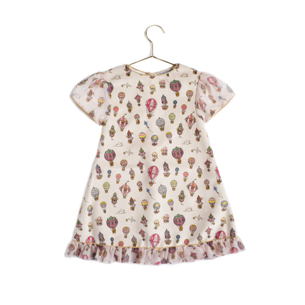 Atelier Choux - Velour Dress (Hot Air Balloon - 6-9m)
