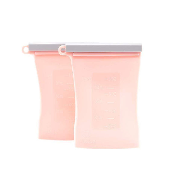 Reusable Silicone Breastmilk Storage Bag - 2 pack VARIOUS COLOURS