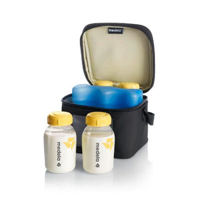 Medela - Cooler Bag with 4 Breastmilk bottles (150 ml)