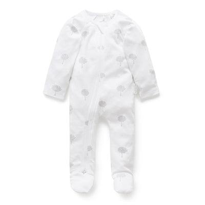 Zip Growsuit (Pale Grey Tree)
