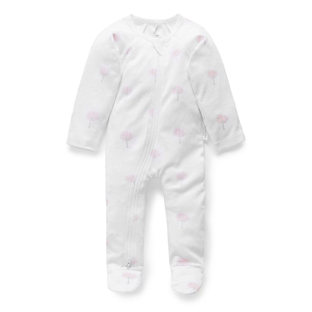 Zip Growsuit (Pale Pink Tree)