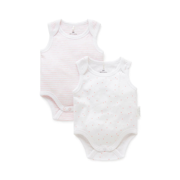2 pack Singlet Bodysuit (Pale Pink Pack)