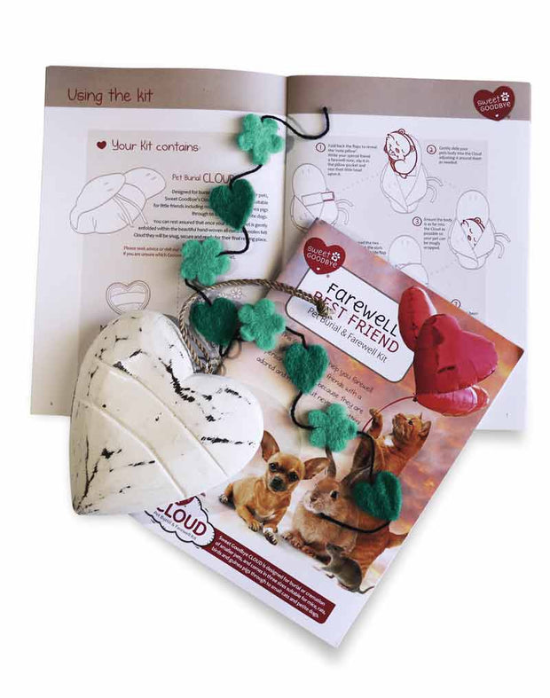 Sweet Goodbye CLOUD® - Pet Burial & Cremation Ceremony Kit | GREEN