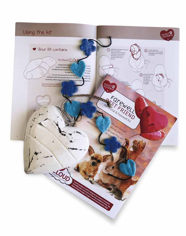 Sweet Goodbye CLOUD® - Pet Burial & Cremation Ceremony Kit | LIGHT BLUE