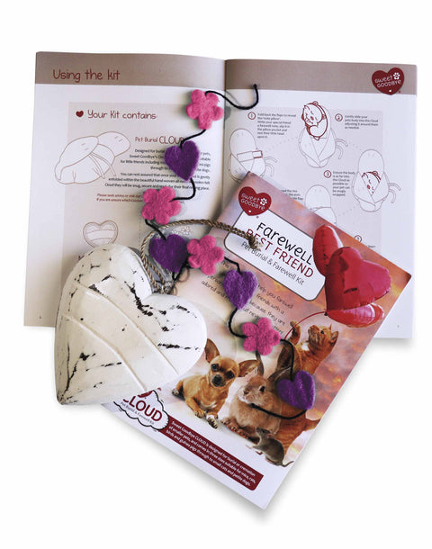 Sweet Goodbye CLOUD® - Pet Burial & Cremation Ceremony Kit | PINK