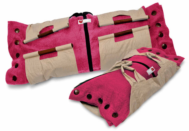 Sweet Goodbye COCOON™ (Premium Wool) - Pet Burial & Cremation Ceremony Kit | PINK