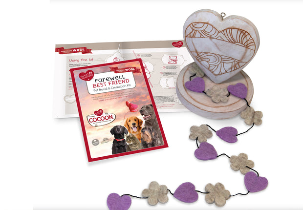 Sweet Goodbye COCOON™ (Premium Wool) - Pet Burial & Cremation Ceremony Kit | LAVENDER